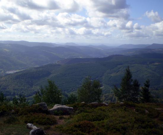 Horizon vosgien, vallée de la Bruche.