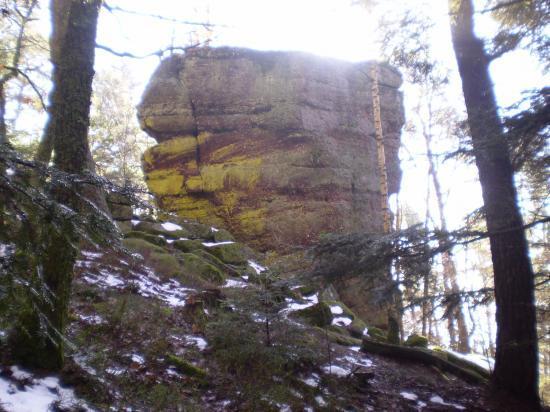 Altitona (Massif du Mont-Sainte-Odile, Alsace) - Le Wachtstein ou l'île de Pâques en Alsace.